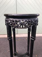 Antique Oriental Chinese Marble Top Stand (3 of 6)