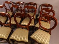 Set of 12 Victorian Mahogany Balloon Back Dining Chairs fully restored (11 of 11)