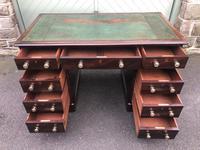 Antique Mahogany Pedestal Writing Desk (6 of 11)