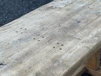 Large French Rustic Bleached Oak Farmhouse Dining Table (31 of 36)