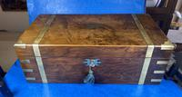 Victorian Brass-bound Walnut Writing Slope with Secret Drawers (28 of 39)