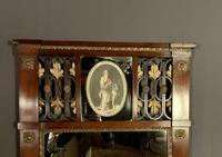 Superb early Austrian mahogany Biedermeier trumeau mirror (10 of 13)
