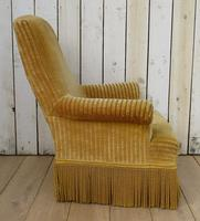 Antique French Tub Armchair for re-upholstery (5 of 8)