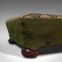 Small Antique Footstool, English, Needlepoint Tapestry, Stool, Victorian c 1850 (8 of 10)