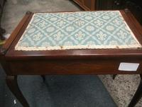 Edwardian Inlaid Mahogany Piano Stool (2 of 5)
