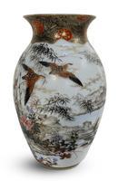 Meiji Period Kutani Vase Decorated with Water Birds (2 of 5)