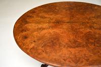Antique  Victorian Burr Walnut Loo Table (11 of 13)
