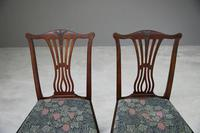 Pair of Antique Chippendale Style Dining Chairs (4 of 12)