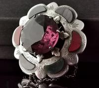 Victorian Scottish Agate & Amethyst Brooch, Sterling Silver (4 of 11)