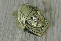 French Art Nouveau Brass Paper Clip Letter Clip c.1905