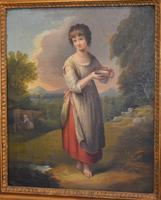 Superb Georgian Oil Painting 'Lavinia' After Gainsborough (3 of 5)