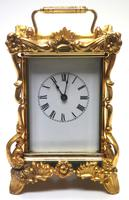 Extremely Rare 8-day Striking Carriage Repeat Feature Waterbury Clock Co c.1880