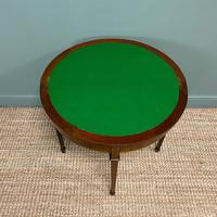 Elegant Small Edwardian Antique D End Games / Side Table (5 of 6)