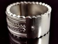 Antique Victorian Silver Bangle, Aesthetic Era, Boxed (8 of 17)