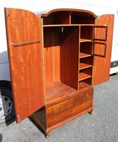 1960s Mahogany Press Wardrobe Well Fitted (4 of 7)