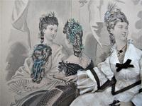 Antique Victorian 3-D Fashion Picture in Original Frame c1875 (8 of 12)
