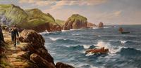 """Oil Painting by David James """"A Cornish Coastal View"""" (2 of 8)"""