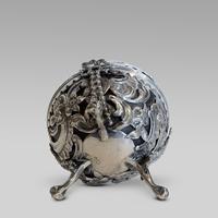 Hallmarked tortoise shell & silver string holder c1890 (4 of 4)