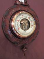 Small Antique Walnut Banjo Barometer (2 of 8)