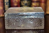 Extremely Attractive & Very Finely Cut Crystal Glass Box (2 of 6)