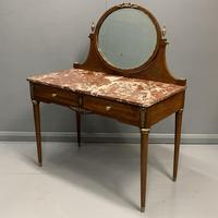 Large French Marble Top Dressing Table (7 of 9)