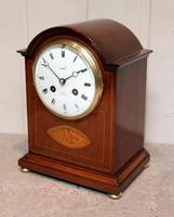 Edwardian Mahogany & Inlay Mantel Clock