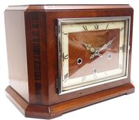 Smiths Art Deco Mantel Clock Triple Chime 8 Day Westminster Chime Mantle Clock. (3 of 8)