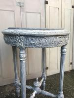 Painted French marble top occasional table (5 of 8)