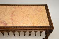 Antique Carved Marble Top Coffee Table (5 of 14)