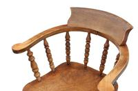 Elm and Beech Bow Armchair Elbow Desk Chair Victorian C1890 (4 of 8)