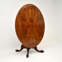 Antique  Victorian Burr Walnut Loo Table (3 of 13)