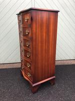 Serpentine Mahogany Slim Chest Drawers (4 of 8)