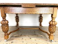 Antique Oak Draw Leaf Dining Table (8 of 10)