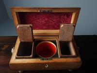 George III Inlaid Rosewood Sarcophagus Shape Tea Caddy (8 of 12)