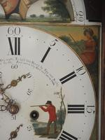 Fine English Longcase Clock Radcliff Elland 8-day Grandfather Clock with Moon Roller Dial (18 of 27)