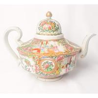 19th Century Cantonese Femille Rose Large Tea Pot (3 of 12)