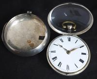 Antique Silver Pair Case Pocket Watch Fusee Verge Escapement Key Wind Enamel J Crainbrook (6 of 10)