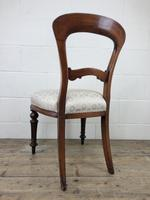 Single Victorian Mahogany Chair with Fabric Seat (10 of 10)