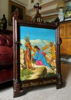 Lovely 19th Century Religious Old Master Christ & Cross Oil Painting - Set 14 Available (2 of 19)