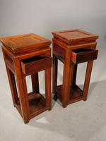 Attractive Pair of Early 20th Century Elm High Stands (2 of 5)