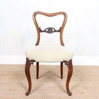 4 Walnut Balloon Dining Chairs 19th Century (10 of 12)