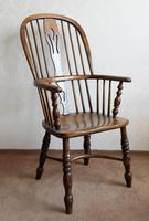 4 Matched High Back Windsor Chairs in Ash (3 of 4)