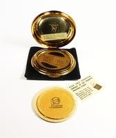 1950s Blue Enamel Stratton Compact Mirror with Butterfly Unused (3 of 8)