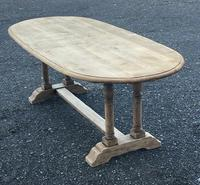 French Bleached Oak Farmhouse Refectory Dining Table (14 of 18)