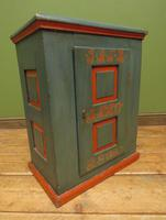 Antique Painted Swedish Cupboard with Vintage Saucy Lady Photos to the Interior (15 of 17)