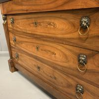 French Cherry & Marble Top Commode Chest of Drawers (6 of 8)