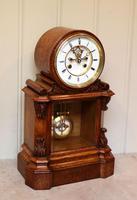 Mid Victorian Drumhead Visible Escapement Mantel Clock (4 of 11)