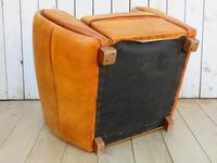 Large French Leather Club Chair (5 of 10)