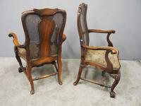 Pair of Queen Anne Style Walnut Armchairs (4 of 17)