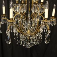 French Gilded Birdcage Antique Chandelier (4 of 10)